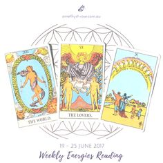 #WeeklyEnergies #WeeklyTarotReading for 19 - 25 June 2017  Themes: success, completion, travel, relationships - new or deepening of existing ones, healing, decisions, beliefs, values, illusions, discomfort, dis-ease, playfulness, do something fun, celebrate your wins, learning and studying, wisdom, knowledge, freedom, expression, alignment, support, triggers, growth, expansion, change, transition.  Click on the image to see the whole reading <3 Vanda xx  #WeeklyReading #EnergyOfTheWeek…