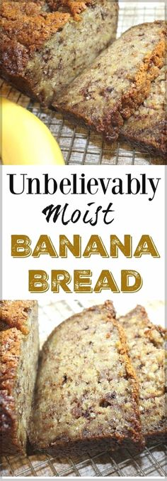 If your looking for the perfect homemade banana bread recipe, this is it! Moist Banana Bread that can be made in a loaf or bundt pan. Simple ingredients and easy instructions make this recipe a must try for breakfast or dessert. Healthy Bread Recipes, Banana Bread Recipes, Cooking Recipes, Cooking Tips, Banana Bread Recipe Without Vanilla Extract, Cooking Games, Banana Bread Recipe With Pudding, Moist Banana Cake Recipe, Banana Bread Ingredients