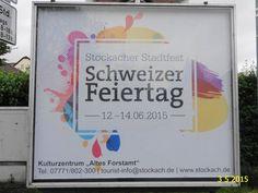 553. - Plakat zur Schweizer Feiertag 2015 in Stockach. / 03.05.2015./