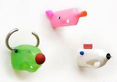 Carolien Adriaansche | recycled animals sculpture ✭ DIY kids craft