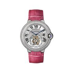 Ballon Bleu de Cartier Flying Tourbillon watch - 39mm, rhodium-finished white gold, diamonds - Fine Timepieces for women - Cartier
