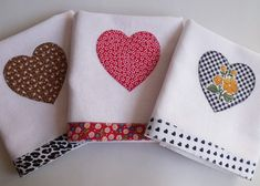 Cross Stitch Embroidery, Tea Towels, Fun Crafts, Valentines Day, Napkins, Coin Purse, Patches, Pillows, Tableware