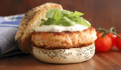 Salmon Burgers with Horseradish Cream by My Golden Pear    http://mygoldenpear.blogspot.co.uk/2012/07/salmon-burgers-with-horseradish-cream.html#