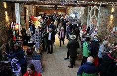 During the Christmas market in the now renovated Tithe Barn.