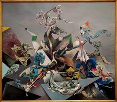 Kurt Seligmann (1900 - 1962) - Magnetic Mountain, 1948, Oil on canvas [4197 x 3666] (OC)
