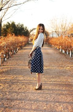 dot and stripe outfit