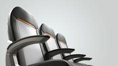 Zodiac Slimplus Aircraft Seating on Behance Airplane Interior, Aircraft Interiors, Wall Mounted Desk, Innovation Design, Zodiac, Chair, Ballpen, Behance, Industrial Design