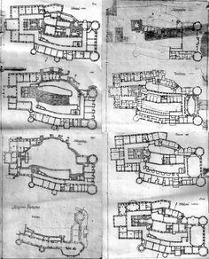 Schloss Fürstenstein - grundrisse (German);  étages (French);  floors/levels (English).                                                                                                                                                     More