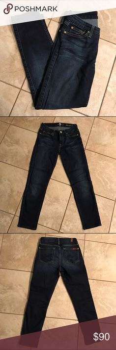 Kimmie Cropped 7 for all mankind Jeans EUC Kimmie Crop 7 Jeans. 👖No trades. Open to offers but I will not discuss pricing in the comments. 7 For All Mankind Jeans Ankle & Cropped