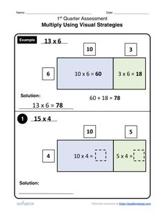 Multiply Using Visual Strategies | Math Anchor Page IEP Goal and Objectives - Goalbook Toolkit
