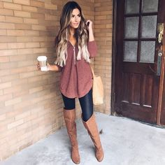 50 shades of brown today ...And my obsession with this sweater is REAL (comes in 4 colors. Holla.) http://liketk.it/2pqlU @liketoknow.it #liketkit #ootd #wiw