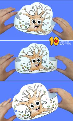 fall craft ideas Easy Arts And Crafts, Crafts For Boys, Crafts To Do, Fall Crafts, Autumn Trees, Autumn Leaves, Maze Worksheet, Paper Crowns, Crazy Hats