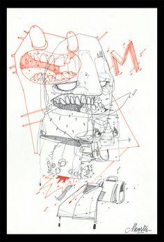 BORDEL - serie #01 by Monsta , via Behance