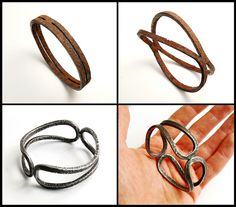 An amazing transformation from iron tube to beautiful bangle.