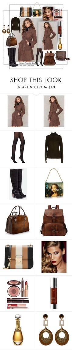 """""""Chocolate Sexy"""" by caroline-buster-brown ❤ liked on Polyvore featuring Wolford, Essentiel, JustFab, Aspinal of London, MICHAEL Michael Kors, Charlotte Tilbury, Theorie, Christian Dior, Toolally and Joe's Jeans"""