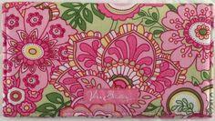 Vera Bradley Petal Pink Checkbook Cover Pink Green Floral Unused No Tag Retired | eBay