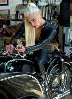 Hot Blonde on Vintage BMW Motorcycle VIEW More Girls and Motorcycles at http://blog.lightningcustoms.com/tag/girls-and-motorcycles/ #VintageBMW #BMWMotorcycle #Motorcycle