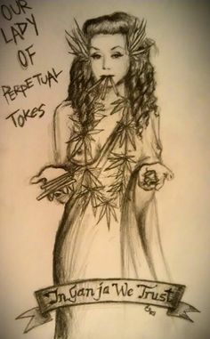 Our Lady of Perpetual Tokes - sketch by cs #ourladyofperpetualtokes #csartworks