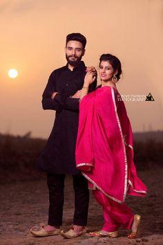 Punjabi Wedding Couple, Indian Wedding Poses, Indian Wedding Couple Photography, Pre Wedding Poses, Wedding Couple Photos, Couple Photography Poses, Punjabi Couple, Photography Styles, Couple Photoshoot Poses