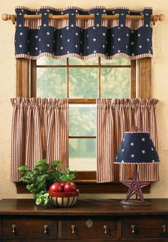 ~Valance could also be done in something besides patrotic/ love the way it is made~