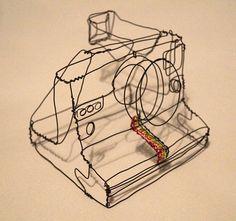 Polaroid 1000 Wire Sculpture