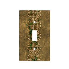 Decorative Celtic Knots With Ivy Light Switch Covers