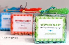 Kinser Event Company: DIY Candy Necklace Craft Favor w/ FREE Printable Labels