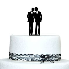 Gay Silhouette Wedding Cake Topper , Dunny Wedding Cake Topper >>> To view further, visit : Baking tools