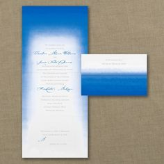 Blue and White Wedding Ideas - Ombre Shade - Seal 'n Send Invitation | Occasions In Print, LLC (Invitation Link - http://occasionsinprint.carlsoncraft.com/Wedding/Wedding-Invitations/3254-TWS36210-Ombre-Shade--Seal-n-Send-Invitation.pro)