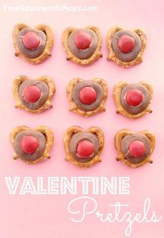 Easy Valentine Recipes | Chocolate Pretzel Hearts