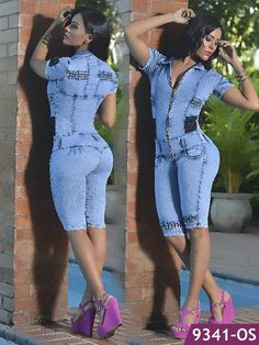 In Capellini Clothing find the best Jumpsuits & Rompers, special prices for wholesalers Couples African Outfits, African Fashion Dresses, Denim Fashion, Girl Fashion, Fashion Outfits, Womens Fashion, Capri Outfits, Hot Outfits, Sexy Dresses