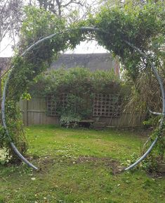 Up cycled garden. This was made by my partner. We reused an old trampoline frame. Recycled Trampoline, Garden Trampoline, Old Trampoline, Trampolines, Backyard Projects, Garden Projects, Moon Gate, Backyard House, Vegetable Garden Design