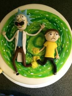 Rick and Morty cake tutorial!