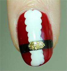 Sunlight Santa Claus Nail Art Nails