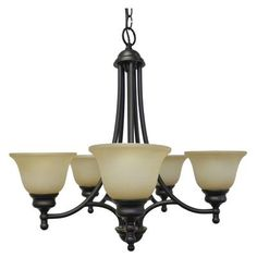 shawson lighting 24 inches chandelier weathered bronze finish cc2145wb home - Chandelier Home Depot