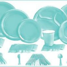 Robins Egg Blue Tableware Robins Egg Blue Party Supplies Party City Baby Shower Ideas Pinterest Robins Produkter Och Agg