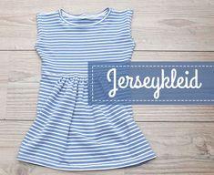 Jerseykleid nach Schemaschnitt für Kleine und Große