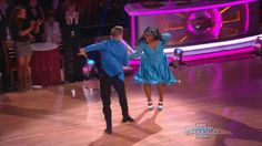 Derek Hough & Amber Riley ~ week 2 ~ Jive ~ 24 out of 30 points