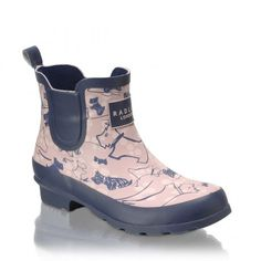 Cherry Blossom Dog, Ankle Wellie Boot