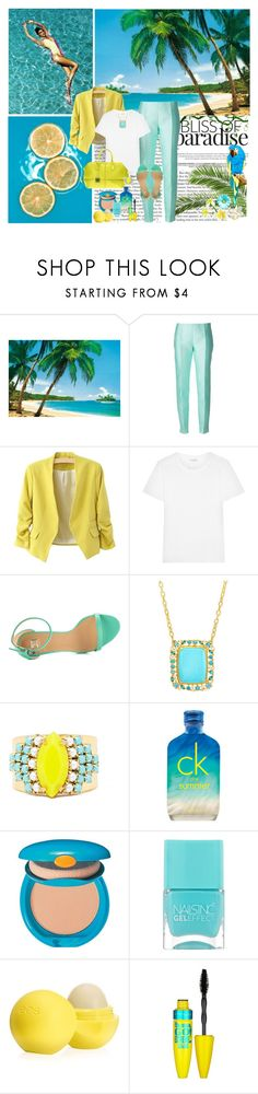 """Happy Days"" by dezaval ❤ liked on Polyvore featuring Antonio Berardi, Yves Saint Laurent, Joe's Jeans, Gurhan, Sandy Hyun, CK One, Shiseido, Nails Inc., Eos and Maybelline"