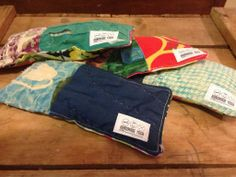 They're here! Vintage quilt eye pillows. In the store and on etsy! #HandmadeYoga #upcycled