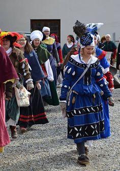 Blue & black kampfrau dress from Fracce.