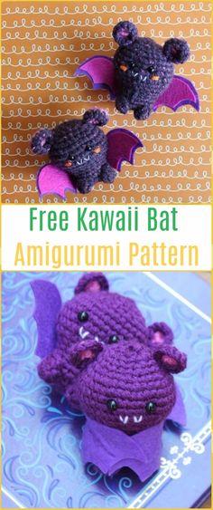 Crochet Amigurumi Kawaii Bat Free Pattern-Amigurumi Crochet Bat Free Patterns