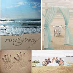 Trending on Pinterest... Beach wedding inspiration
