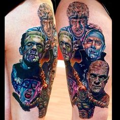 I love tattooing universal monsters and this piece was one of my favs. She's a champ done in two sessions, and she never moved once. Man I wanna do more old movie monsters. Hope everyone likes. Black Tattoos, Body Art Tattoos, I Tattoo, Sleeve Tattoos, Tatoos, Worldwide Tattoo, Horror Movie Tattoos, Hollywood Monsters, Monster Tattoo