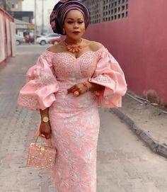 Nigerian Lace Styles Dress, Aso Ebi Lace Styles, African Lace Styles, Lace Dress Styles, Latest African Fashion Dresses, African Dresses For Women, African Party Dresses, Nigerian Fashion, Mode Style