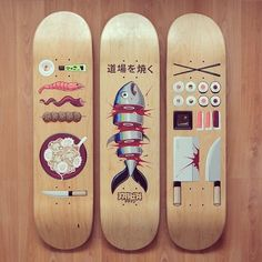 — thedailyboard: Hungry? It's time for sushi skate... #skateart…