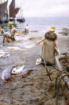 Fish Market in Saint Ives (1888), Anders Zorn