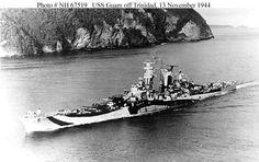 USS Guam in though classified as a heavy cruiser, she makes an interesting comparison with Scharnhorst (see nearby) given her 9 x 12 in armament: she was however less heavily armoured. Naval History, Military History, New Battleship, Heavy Cruiser, Capital Ship, Us Navy Ships, Military Diorama, United States Navy, Submarines