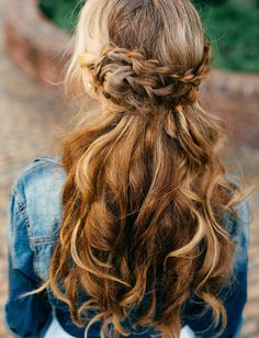 braided crown with waves